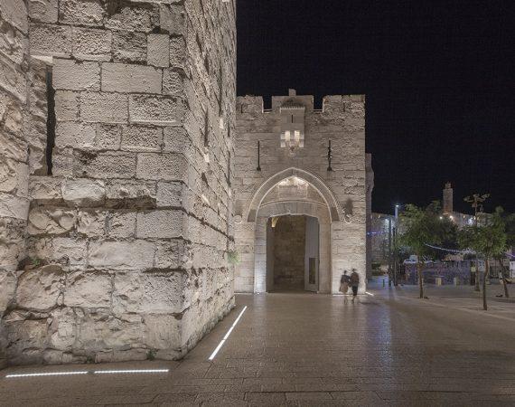 שער יפו-תאורת הכניסה לשער-1ב